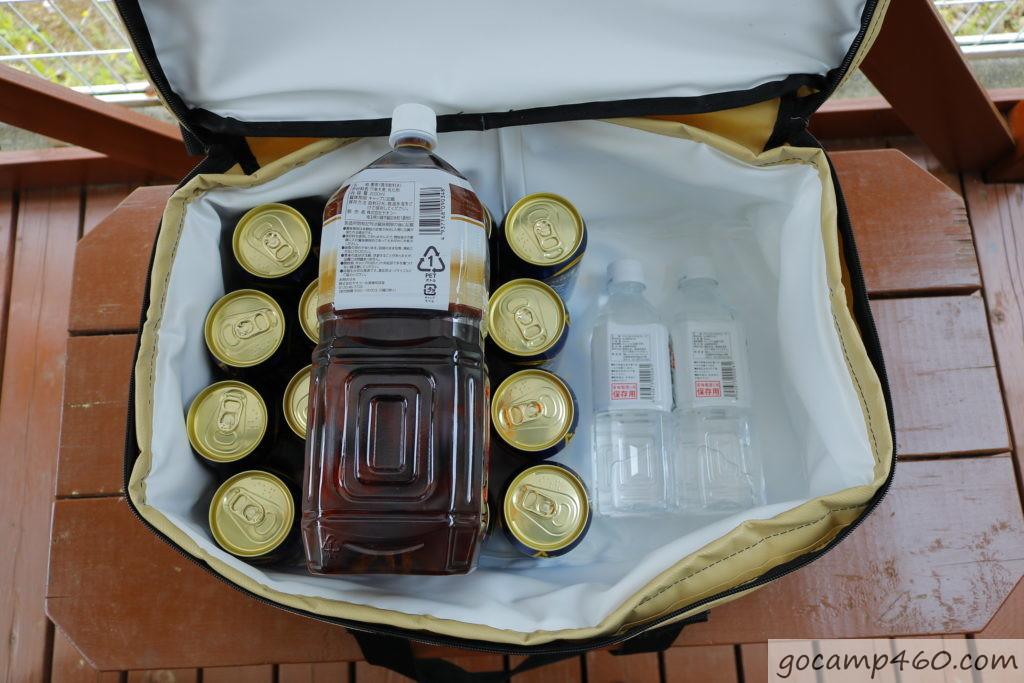 ビールの上に2Lペットボトルも乗ります