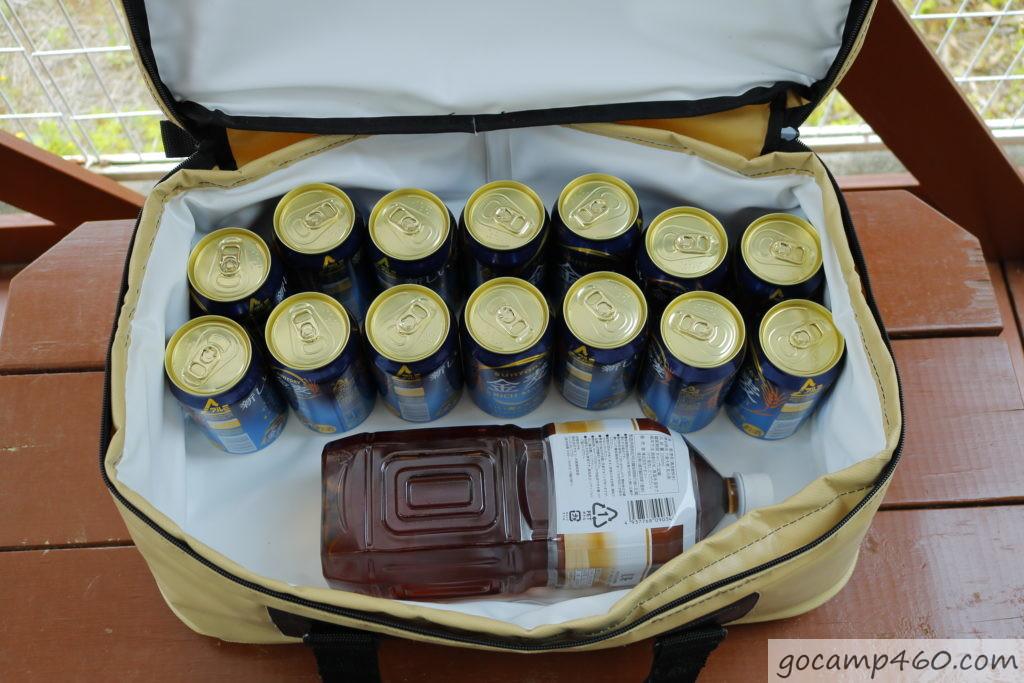 ビール14本と2Lペットボトル1本を入れてみた