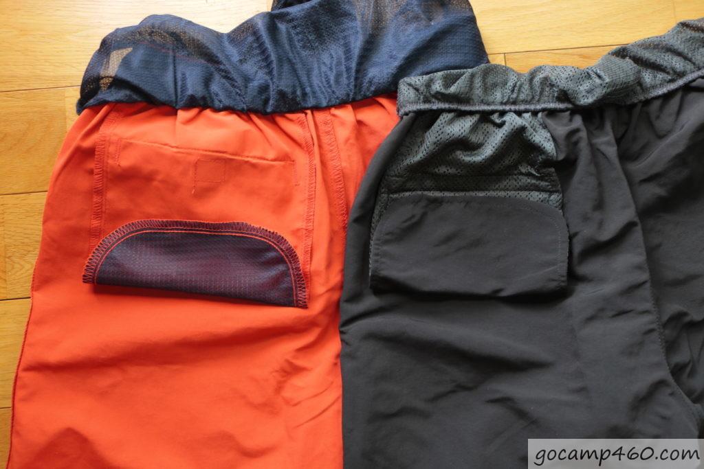 バックポケットの内側を比較