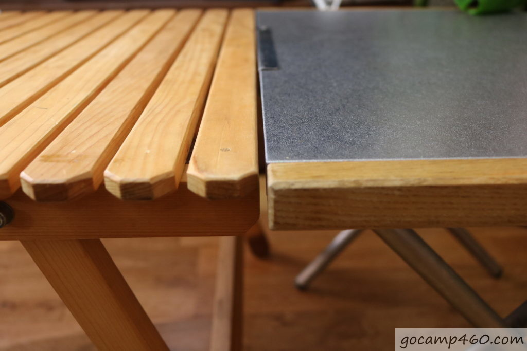 ユニフレームのテーブルの高さを比較