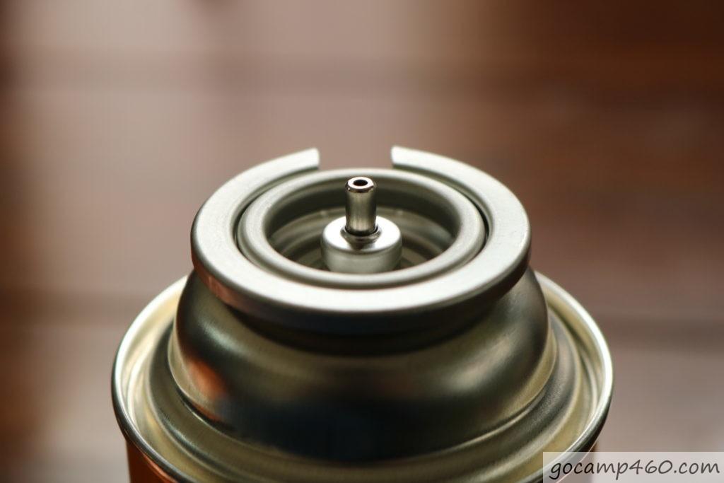 ガス缶の口