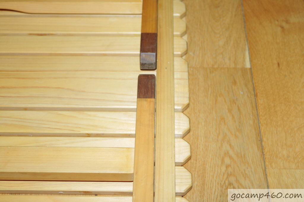 閉じた状態のテーブル2