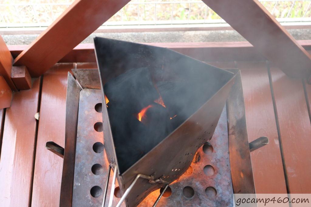 1分経過の炭