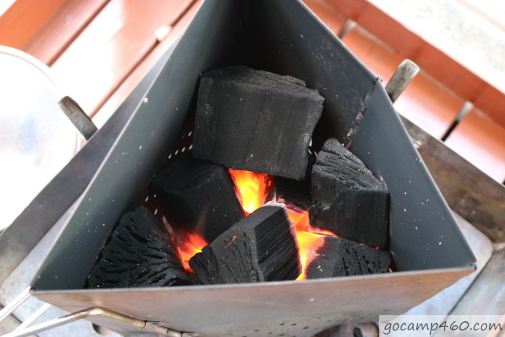 5分経過の炭