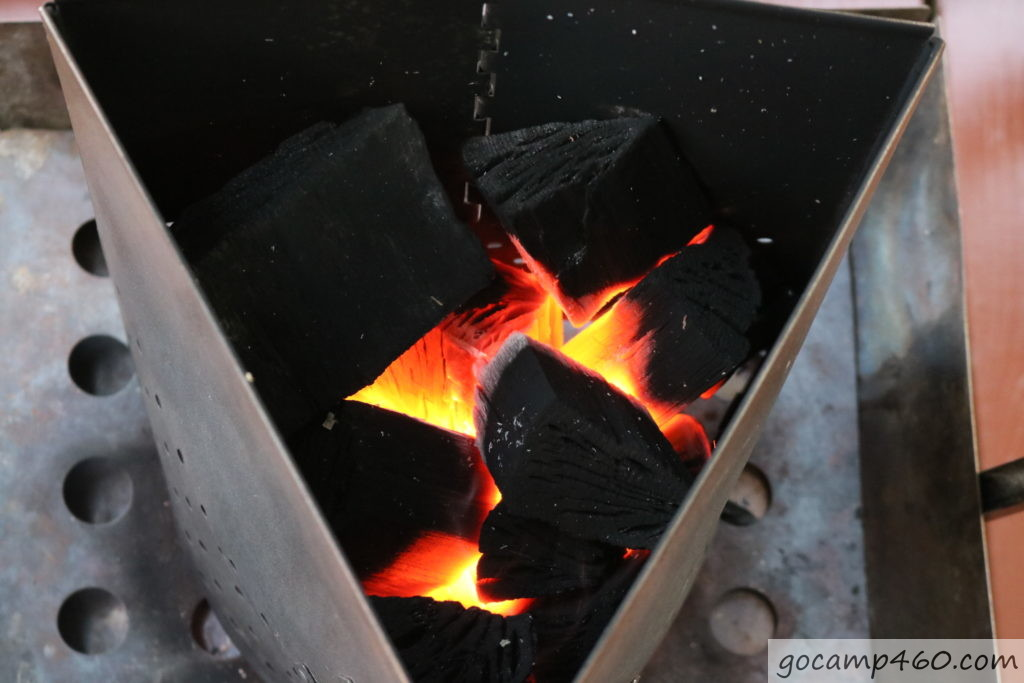 10分経過の炭