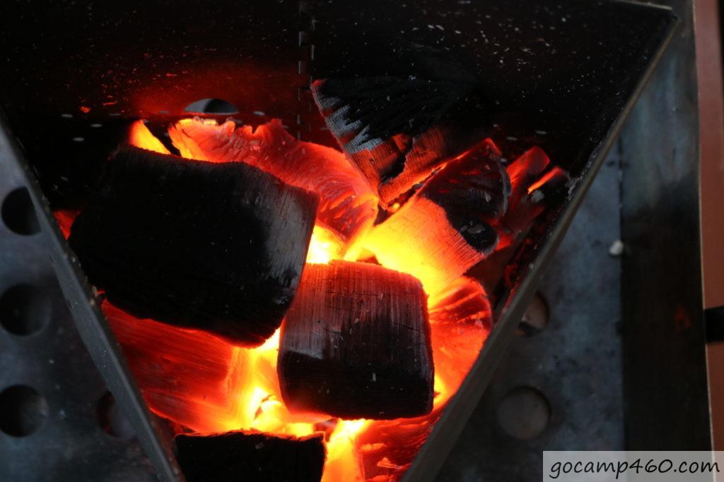 12分経過の炭